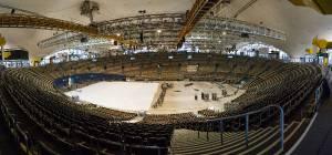 161223 RB München Aufbau Hockey Halleluja Olympiahalle